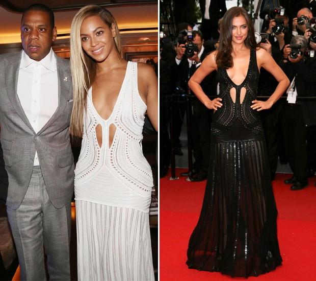 Beyoncé usa mesmo vestido da top Irina Shayk: quem se saiu melhor?