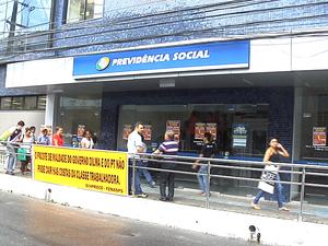 80% das agências do INSS estão sem funcionar no Ceará, diz sindicato (Foto: Reprodução/TV Verdes Mares)