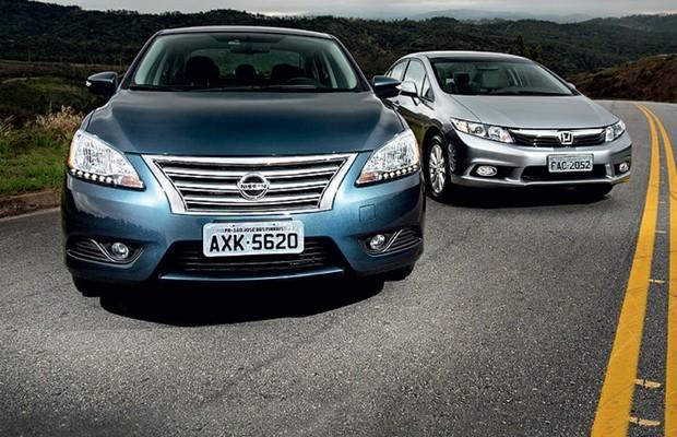 Nissan Sentra vs Honda Civic (Foto: Fabio Aro)