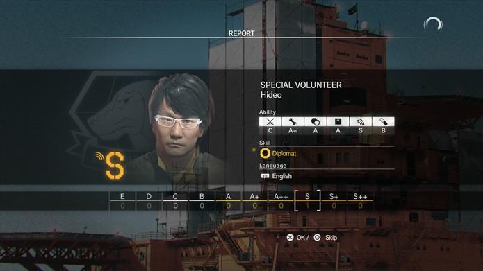Hideo Kojima tem alguns dos melhores atributos do jogo (Foto: Reprodução/Cássio Barbosa)