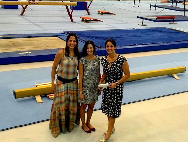 Monique Ferreira, Camila Carvalho e Marina Canetti atletas no COB (Foto: Arquivo Pessoal)