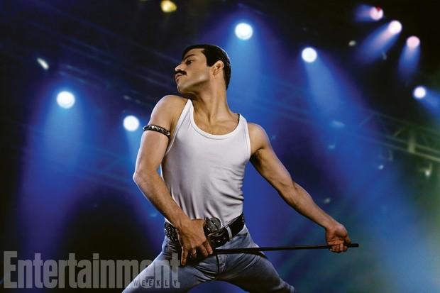 Rami Malek como Freddie Mercury no filme Bohemian Rhapsody (Foto: reprodução/Entertainment weekly)