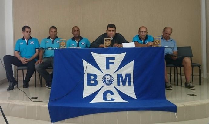 Diretoria anuncia futuro do Barra Mansa em coletiva de imprensa (Foto: Divulgação/BMFC)
