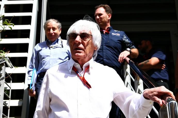 Benie Ecclestone e Jean Todt após reunião da Fórmula 1 (Foto: Getty Images)