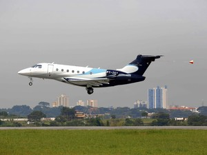 Segundo protótipo do Legacy 500 teve seu primeiro voo realizado nesta sexta-feira (15). (Foto: Divulgação/Embraer)