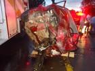 Dois jovens morrem e dois ficam feridos em colisão frontal