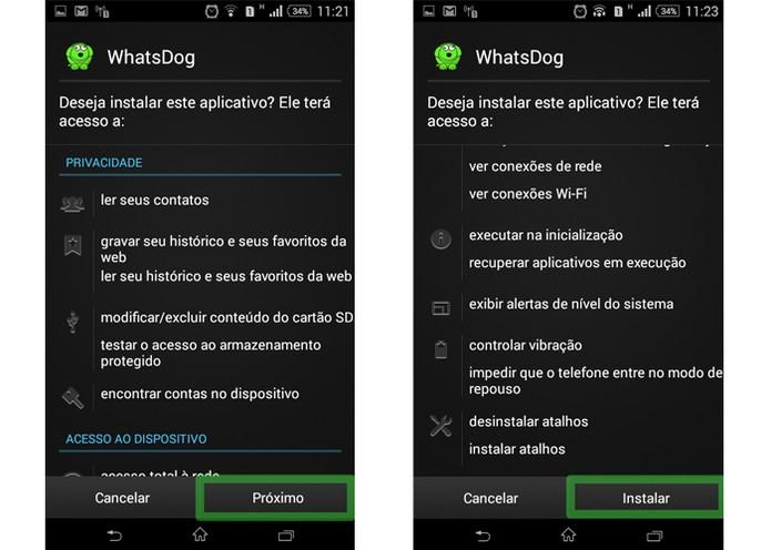 """Clique em """"Instalar"""" para iniciar a instalação do apk  (Foto: Reprodução/Luciana Vieira)"""