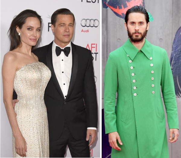 Angelina Jolie, Brad Pitt e Jared Leto (Foto: Getty Images)