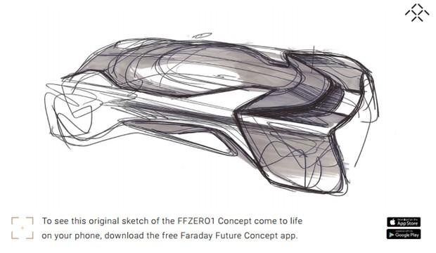 Faraday Future lança app do conceito FFZERO1 (Foto: Divulgação)