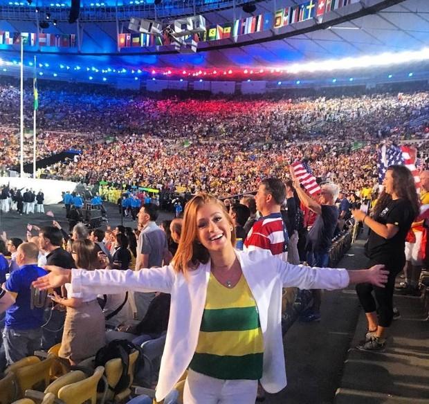 Marina Ruy Barbosa na cerimônia de abertura da Olimpíada Rio 2016 (Foto: Reprodução/Instagram)
