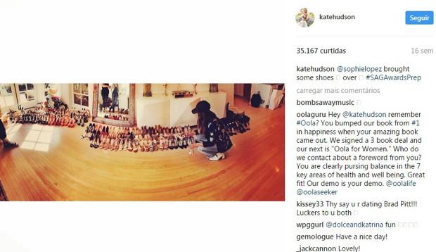 Kate Hudson compartilha closet e revela paixão por sapatos (Foto: Reprodução)