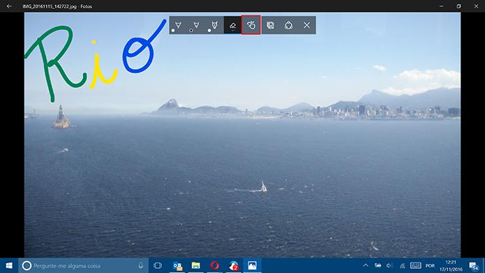 Usuário pode desativar desenho para evitar rabiscos em imagens (Foto: Reprodução/Elson de Souza)