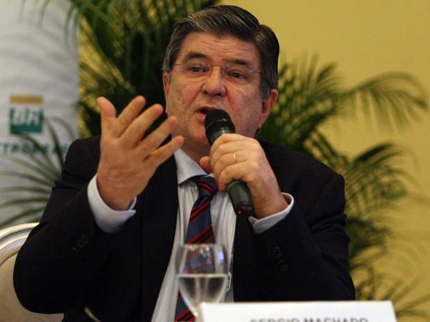 Rio de Janeiro, RJ. 20/12/2011. Sérgio Machado, presidente da Transpetro, durante coletiva da Petrobras realizada na sede da empresa, no centro do Rio de Janeiro.  (Foto: Tasso Marcelo/Estadão Conteúdo/Arquivo)