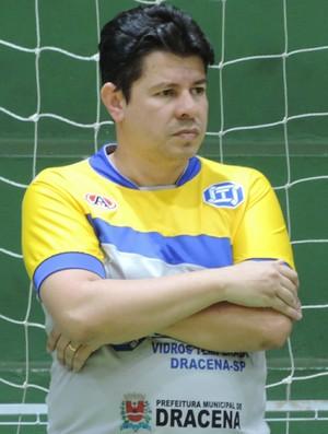 Flavinho Cavalcante técnico do Dracena (Foto: Ronaldo Nascimento / GloboEsporte.com)