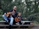 Igor Rickli festeja Dia dos Pais com Antonio: 'Ele é uma miniatura de mim'