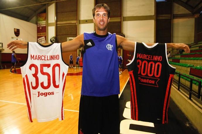 Marcelinho será homenageado pela diretoria do Flamrngo com uma camisa comemorativa aos 8 mil pontos marcados pelo Flamengo (Foto: Gilvan de Souza)