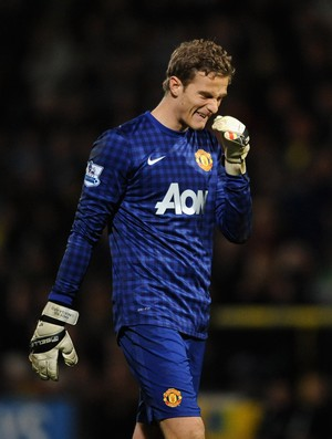 Anders Lindegaard goleiro do Manchester United (Foto: Getty Images)