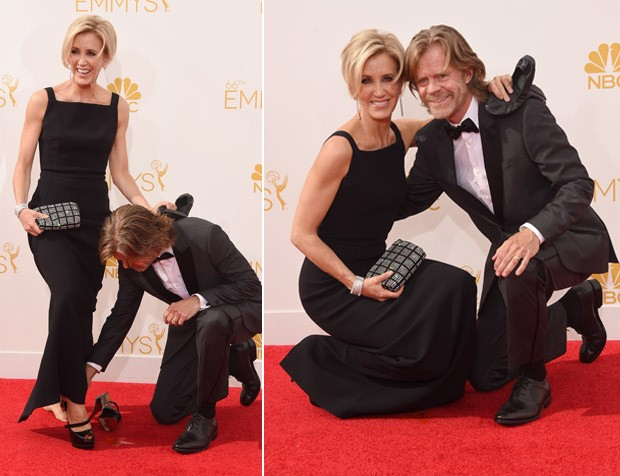 Felicity Huffman e William H. Macy no Emmy Awards (Foto: Getty Images)