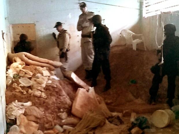 Túnel de 10 metros foi encontrado na Casa de Prisão Provisória de Palmas (Foto: Divulgação/Secom)