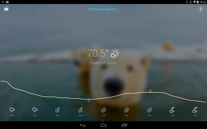 Bright Weather é um aplicativo de previsão do tempo com visual agradável (Foto: Divulgação/Bright Weather)