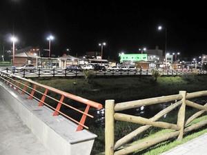 Nova iluminação de Camaçari (Foto: Agnaldo Silva/Divulgação)