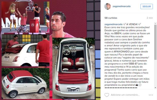 Marcelo Zagonel (Foto: Reprodução / Instagram)
