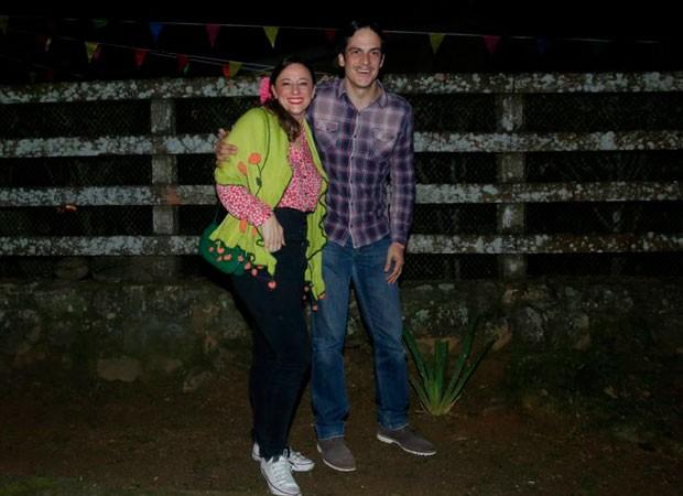 Mateus Solano e a mulher, a atriz Paula Braun (Foto: AgNews)