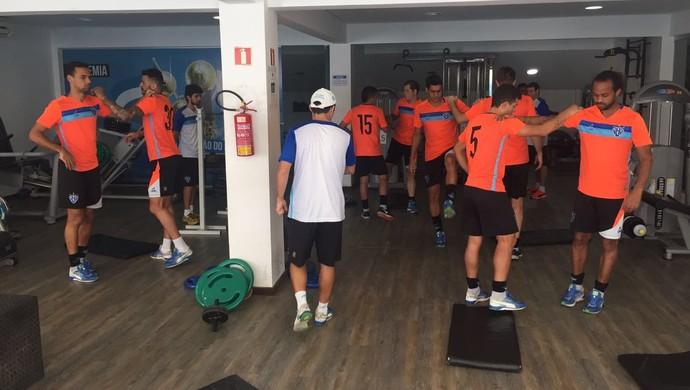 Elenco do Paysandu treinou na academia após a derrota para o Tupi (Foto: Ascom Paysandu)