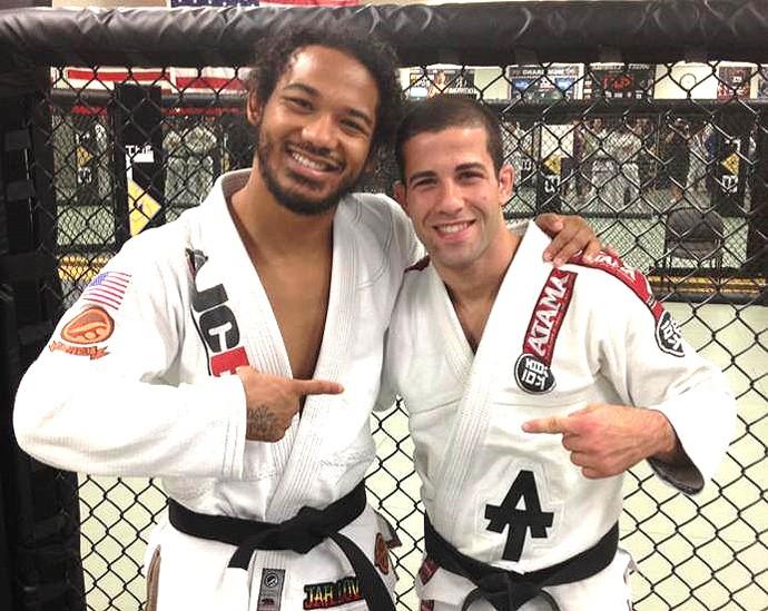 Ben Henderson e Augusto Tanquinho (Foto: Reprodução)