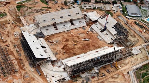 Obras Arena pantanal copa 2014 (Foto: Arena)