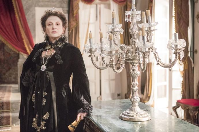 Debora Olivieri tem a missão de interpretar a icônica Carlota Joaquina em 'Novo Mundo' (Foto: Ellen Soares/ Gshow)