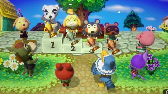 Em Animal Crossing Amiibo Festival vence o personagem mais feliz (Foto: Divulgação/Nintendo)