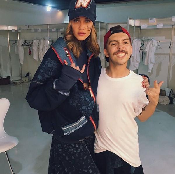 Ana Beatriz Barros e o estilista Roberto Mendes (Foto: Reprodução / Instagram)