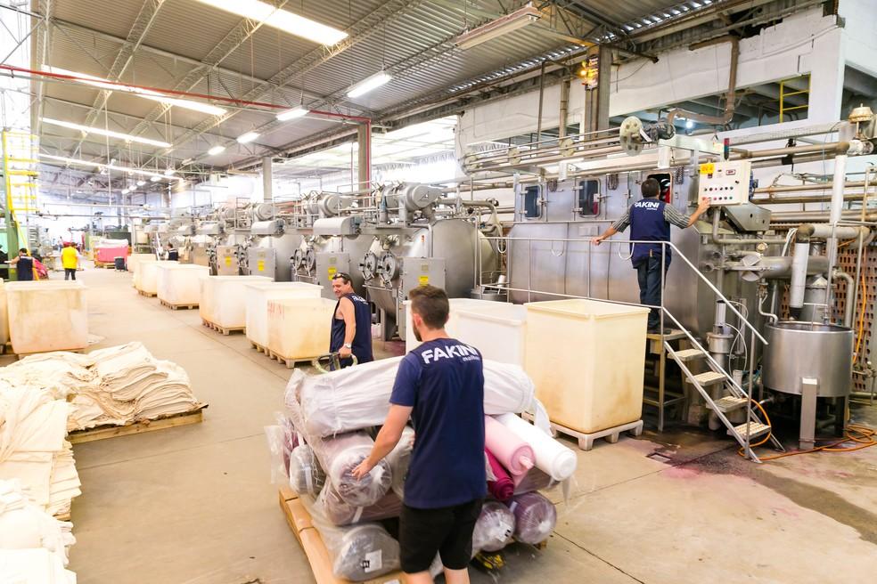 Fábrica da Fakini,  em Pomerode (Foto: Daniel Zimmermann)