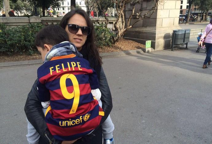 Felipe Barcelona 6 a 1 no PSG (Foto: Arquivo pessoal)