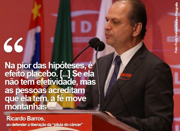 CARD: Ministro da Saúde, Ricardo Barros (3) (Foto: Card/G1)