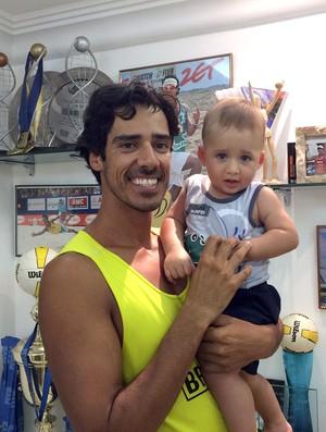vôlei de praia, Harley, com o filho Rafael Harley (Foto: Gabriel Fricke)