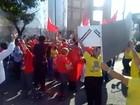 Visita de Dilma a Maceió tem confusão entre grupos contra e a favor do PT