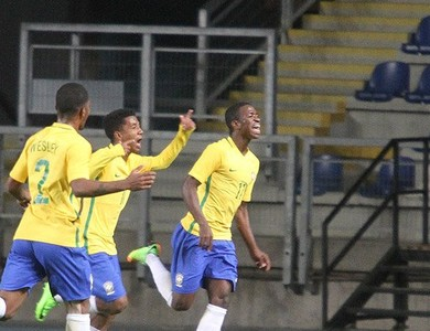 Vinicius Jr., Brasil x Venezuela, sul-americano sub-17 (Foto: Twitter / @Sub17Chile2017)