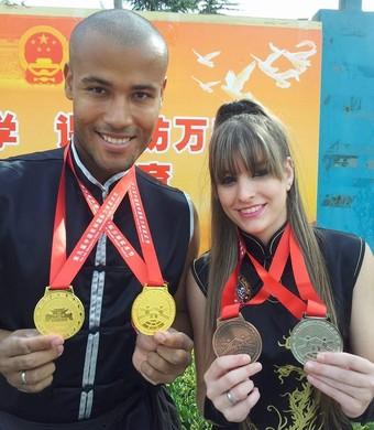 Daielle e Thiago Kung-fu (Foto: Divulgação/Arquivo Pessoal)