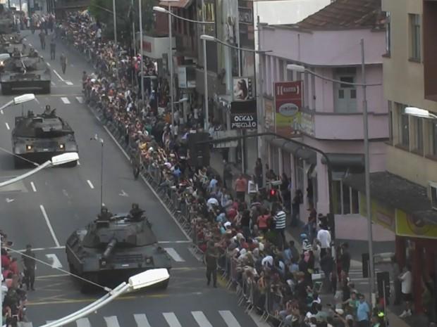 Desfile 7 de Setembro em Ponta Grossa (Foto: Reprodução/ RPC Ponta Grossas)