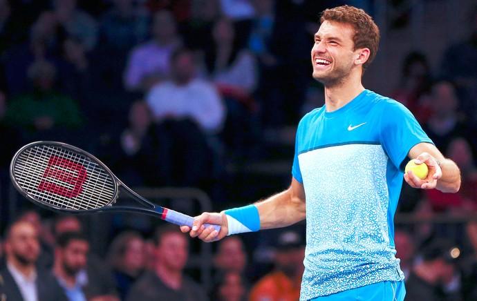 Grigor Dimitrov, Torneio Exibição Paribas 2015 Madison Square Garden Tênis (Foto: Getty Images)