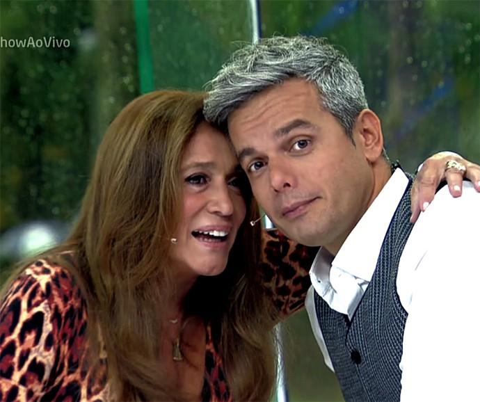 Susana Vieira e Otaviano imitam personagens no Vídeo Show (Foto: Vídeo Show / Gshow)