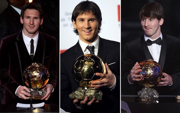 messi bola de ouro montagem (Foto: Editoria de Arte/Globoesporte.com)