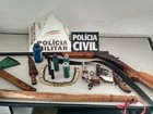 Jovem e idoso são detidos com armas durante operação da PM de Muriaé