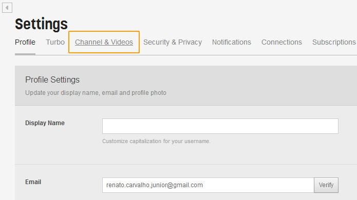 Passo 3: Channel & Videos. (Foto: Reprodução)