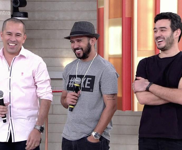 Elenco de 'O Shaolin do Sertão' comenta sobre longa no 'Encontro' (Foto: TV Globo)