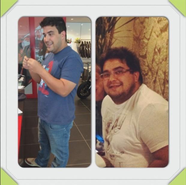 Apresentador mostram montagem do antes e depois da operação (Foto: TV Globo/Programa do Jô)