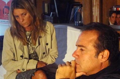 André Mattos ensaia com Priscilla Rozenbaum (Foto: Divulgação)