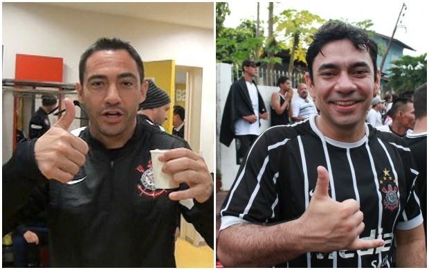 Chicão e Torcedor (Foto: Anderson Silva/Globoesporte.com)